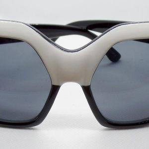 Quay Australia Black And White Cat Eye Sunglasses